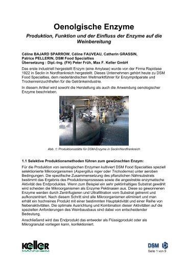 DSM-Artikel Oenologische Enzyme - Max F. Keller  GmbH