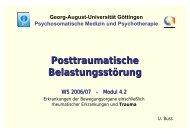 Posttraumatische Belastungsstörung - Psychosomatik ...