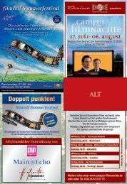 27. Juli-06. August Open-AIR-KINO -  Kinopolis