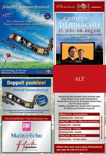 27. Juli-06. August Open-AIR-KINO -  Kinopolis