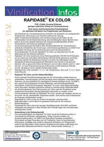 DSM-Info Rapidase Ex Color - Max F. Keller  GmbH