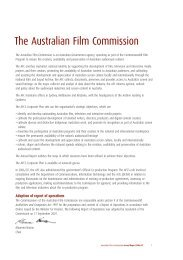 The Australian Film Commission - Screen Australia