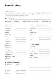 Personalfragebogen - Kinopolis
