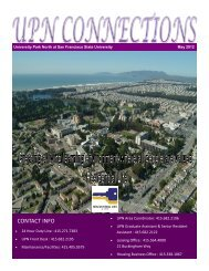 CONTACT INFO - San Francisco State University