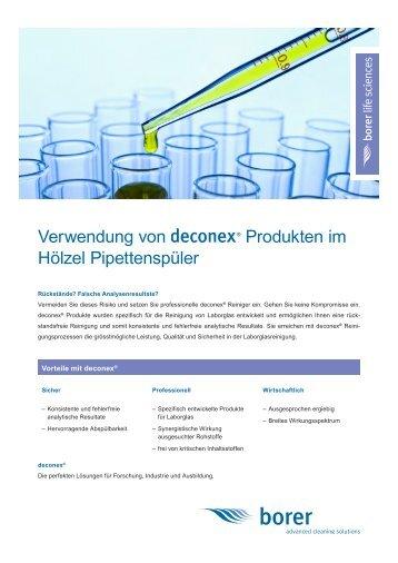 Deconex Information