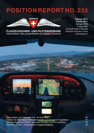 Position RePoRt no. 233 - AOPA Switzerland
