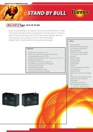 Folder Stand by Bull Giv-S Bloc D - Banner Batterien