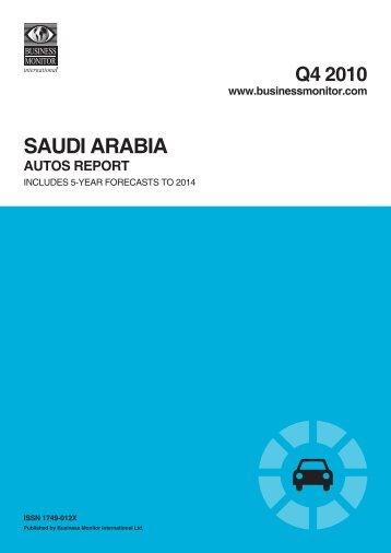 saudi arabia autos report q4 2010 - Zawya