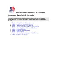 Doing Business In Indonesia: 2012 Country - Export.gov