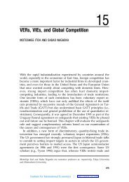 Global Competition Policy - Institute for International Economics
