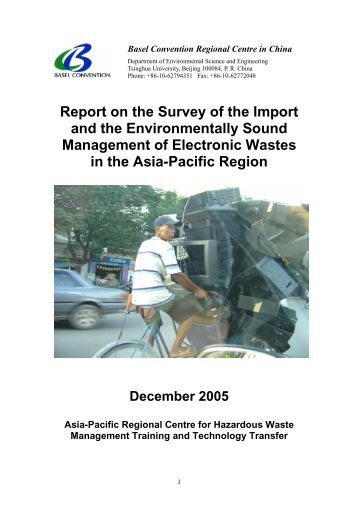 Report on the Survey of the Import and the ... - Basel Convention