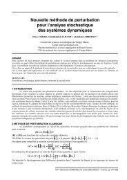 Nouvelle méthode de perturbation pour l'analyse stochastique des ...