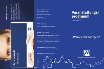 programm - Marketing-Club Hannover eV