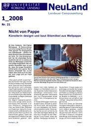 Ausgabe 1/2008 (PDF) - Universität Koblenz · Landau