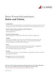 Basis Presseinformationen Daten und Fakten - CA Immo Deutschland