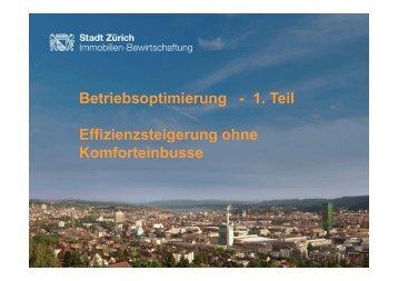 Betriebsoptimierung - Energie Zentralschweiz
