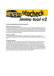 ADVANCED IMMO REPAIR SYSTEM VERSION 2 What is otocheck ...