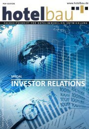 Special: Investor Relations - Hotelbau