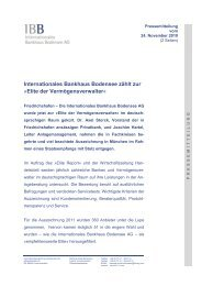 Elite Report 2011 - IBB - Internationales Bankhaus Bodensee AG