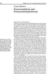 Ulrich Busch - Arbeitsgruppe Alternative Wirtschaftspolitik