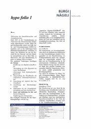 hypo folio 1 - Bürgi Nägeli Rechtsanwälte