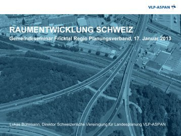 Raumkonzept Schweiz und Revision des ... - Fricktal
