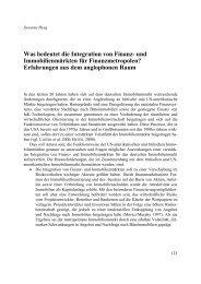 Was bedeutet die Integration von Finanz- und Immobilienmärkten für ...