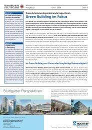 Green Building im Fokus Stuttgarter Perspektiven. - DS-Plan