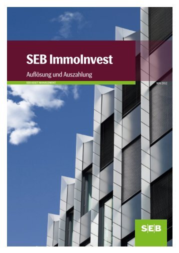 Auflösung und Auszahlung - SEB ImmoInvest