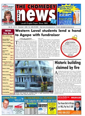 Historic building claimed by fire - Laval News