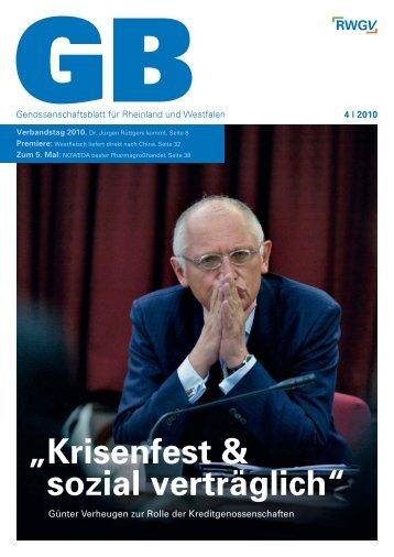 Genossenschaftsblatt 4/2010 - RWGV
