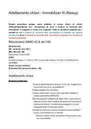 Adattamento chiavi - Immobilizer III _Kessy_ - Auto Consulting