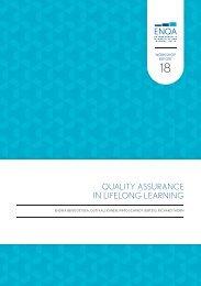 Quality Assurance in Lifelong Learning (pdf) - ENQA