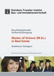 Master of Science (M.Sc.) in Real Estate - Steinbeis-Transfer-Institut ...