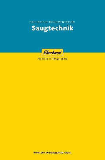 Technische Dokumentation Saugtechnik - Eberhard Unternehmungen