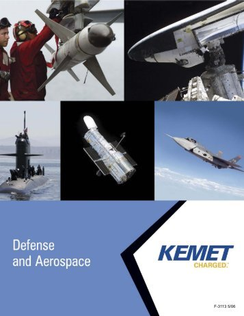 F3113 Military Catalog Ceramic Surface Mount Capacitors - Kemet