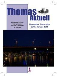 Gemeindebrief für Monate November 2010 bis Januar 2011