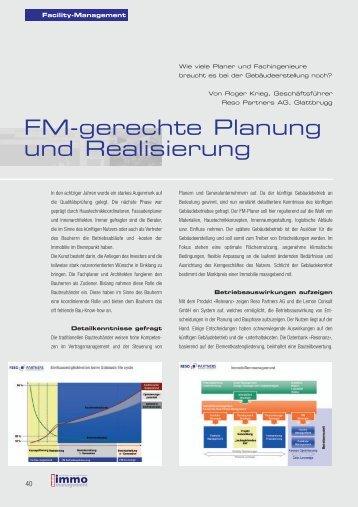 FM-gerechte Planung und Realisierung - RESO Partners AG