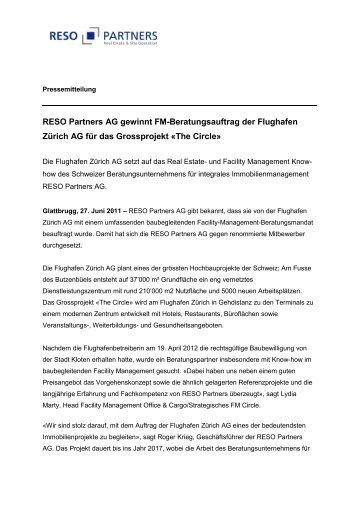 RESO Partners AG gewinnt FM-Beratungsauftrag der Flughafen ...