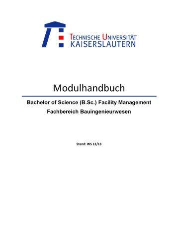 Modulhandbuch - Fachbereichs Bauingenieurwesen - Universität ...