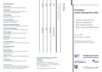 FM FORUM RHEIN-MAIN Immobilien Facility ... - Baulinks