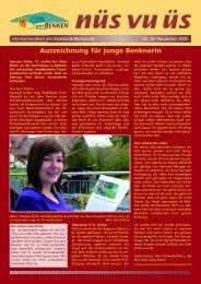 nüs vu üs Nr. 16 (Nov 2009) [PDF - Benken