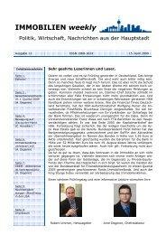 Immobilien weekly Ausgabe 11 vom 15 April 2009