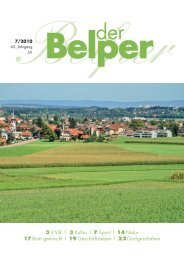 3 VVB | 3 Kultur | 7 Sport | 14 Natur 17 Bunt gemischt ... - Der Belper