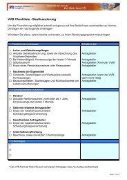 VVB Checkliste Baufinanzierung (pdf-Datei 121 KB)