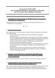 Auszug aus der Niederschrift über die öffentliche Sitzung des ...