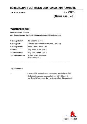 NR. 20/6 Wortprotokoll - Farid Müller