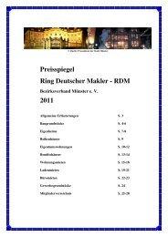 Preisspiegel Ring Deutscher Makler -RDM- Bezirksverband Münster ...