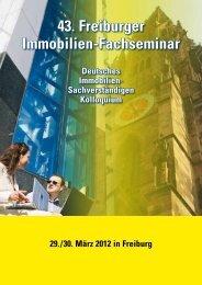 43. Freiburger Immobilien-Fachseminar - Deutsche Immobilien ...