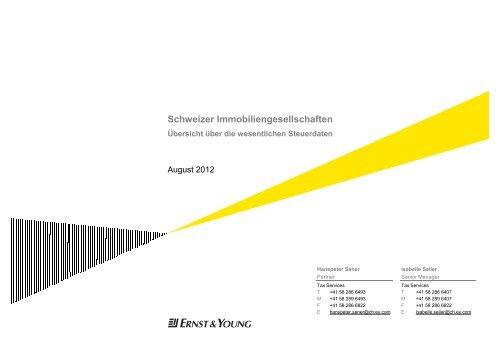 Schweizer Immobiliengesellschaften - Home - Ernst & Young ...